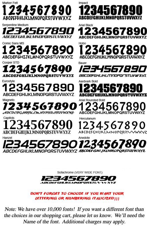 Car Racing Numbers Font